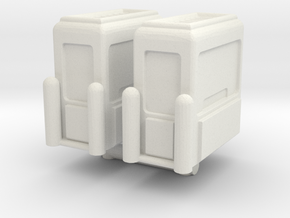Toll Booth (x2) 1/144 in White Natural Versatile Plastic