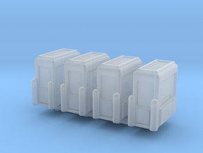 Toll Booth (x4) 1/200 in Smooth Fine Detail Plastic