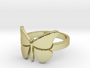 Butterfly (large) Ring Size 6 in 18k Gold