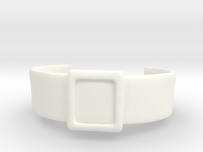 Space Pirate Belt in White Processed Versatile Plastic