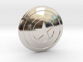Captain America Shield Tie Pin in Rhodium Plated Brass