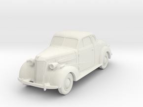 1937 Chevy 1/72 Scale in White Natural Versatile Plastic