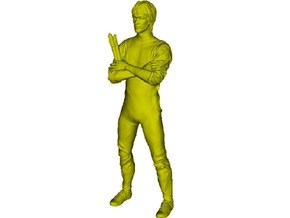 """1/72 scale Bruce Lee """"Game of Death"""" figure in Smoothest Fine Detail Plastic"""