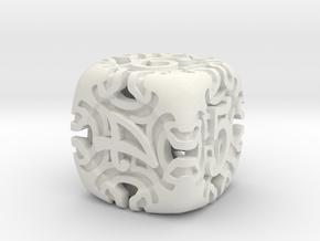 Art Nouveau d6 in White Natural Versatile Plastic