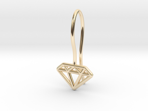 Diamond earring in 14k Gold Plated Brass