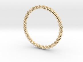 Twist Ring in 14k Gold Plated Brass: 5.75 / 50.875