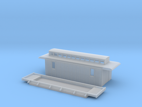 D3 - Swedish mail wagon in Smooth Fine Detail Plastic