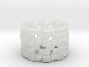 Borg Cube Ring Size 8 in Smooth Fine Detail Plastic