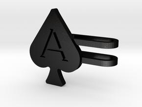 Ace of Spades Watch Charm in Matte Black Steel