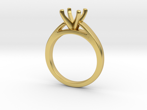 1.5ct solitaire in Polished Brass