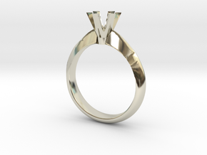 six claw solitaire in 14k White Gold