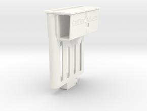 Audi TT dock for iPhone X/XS/11 Pro + thin case in White Processed Versatile Plastic