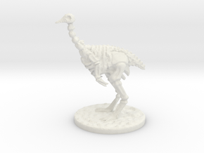 The Skeletal Ostrich mini in White Natural Versatile Plastic