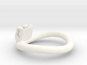 Cherry Keeper Ring - 53x50mm Wide Oval -12°~51.5mm in White Processed Versatile Plastic