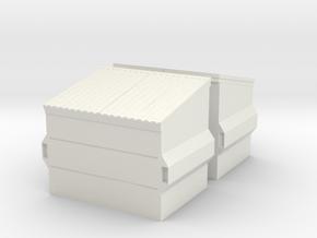 Dumpster (2 pieces) 1/72 in White Natural Versatile Plastic