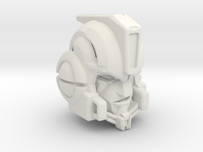 Age of Extinction Voyager Ironhide Head for AOE Ho in White Natural Versatile Plastic