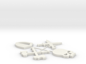 Warcry Battle Group Tokens in White Natural Versatile Plastic