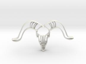 Animal Skull Cookie Cutter in White Natural Versatile Plastic
