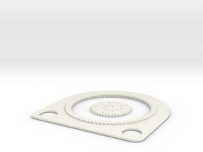 Spirograph for ellipses in White Natural Versatile Plastic