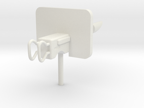 Cannon for walls or fortress gates in White Natural Versatile Plastic: 28mm