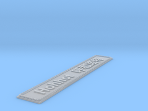 Nameplate Hohhot 呼和浩特 (10 cm) in Smoothest Fine Detail Plastic