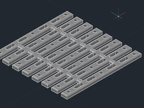 "SCIFI Corridor Floor Grating B 1""x1"" (10 Pieces) in Smooth Fine Detail Plastic"