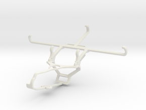 Controller mount for Steam & Realme C3 - Front in White Natural Versatile Plastic