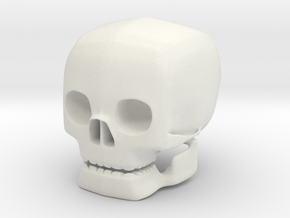 skull with movable jaw in White Strong & Flexible
