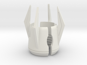 Emitter Shroud - Glaive in White Natural Versatile Plastic