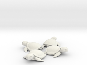 TMNT Little Turtles (4 pieces bundle) in White Natural Versatile Plastic