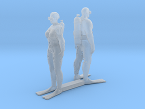 HO Scale Scuba Divers in Smooth Fine Detail Plastic