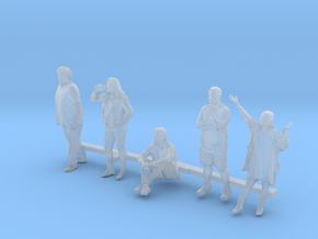 S Scale People in Smooth Fine Detail Plastic