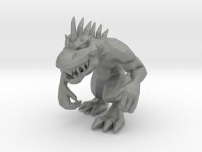 Rampage Lizzie 58mm miniature kaiju monster model in Gray PA12
