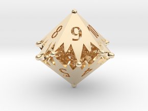 D10 Balanced - Starlight (Gold Plated) in 14k Gold Plated Brass