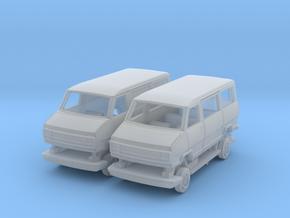 Van & minibus Fiat/PSA - TT 1:120 in Smooth Fine Detail Plastic