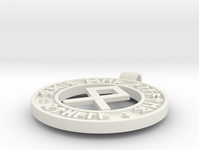 Runen Anhänger OTHALA in White Natural Versatile Plastic