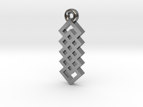 Celtic Knot Square Vertical Weave Earrings in Polished Silver