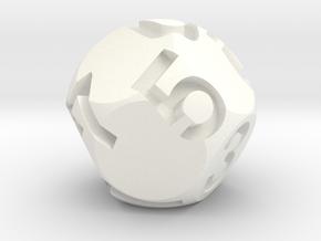 Jumbo Sphere d10 in White Processed Versatile Plastic