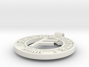 Runen Anhänger FEHU in White Natural Versatile Plastic