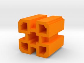 Geometry Dash 2 Demon Icon in Orange Processed Versatile Plastic