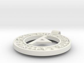 Runen Anhänger THURISAZ in White Natural Versatile Plastic