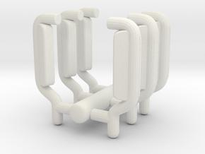 1/87 Pierce Quantumm Rear View Mirrors Set of 3 in White Natural Versatile Plastic