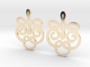 Quad Flourish Earrings in 14K Yellow Gold