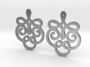 Quad Flourish Earrings in Natural Silver