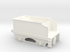 4 Wheel Tender Without Coal in White Processed Versatile Plastic