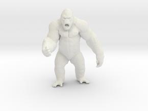 King Kong kaiju monster 65mm miniature games model in White Natural Versatile Plastic