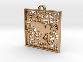 Square Multicolor Frog in Polished Bronze