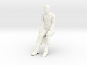 Time Tunnel - Dr Raymond Seated in White Processed Versatile Plastic