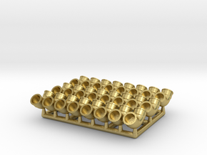 Plumbing Fitting 01.1:24 Scale  in Natural Brass