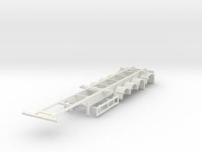 000731 4a Kontiner New Zealand HO in White Natural Versatile Plastic: 1:87 - HO